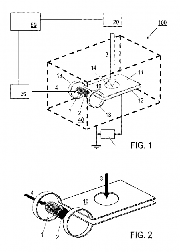 Highly technical diagram from the patent showing how the reactor works.