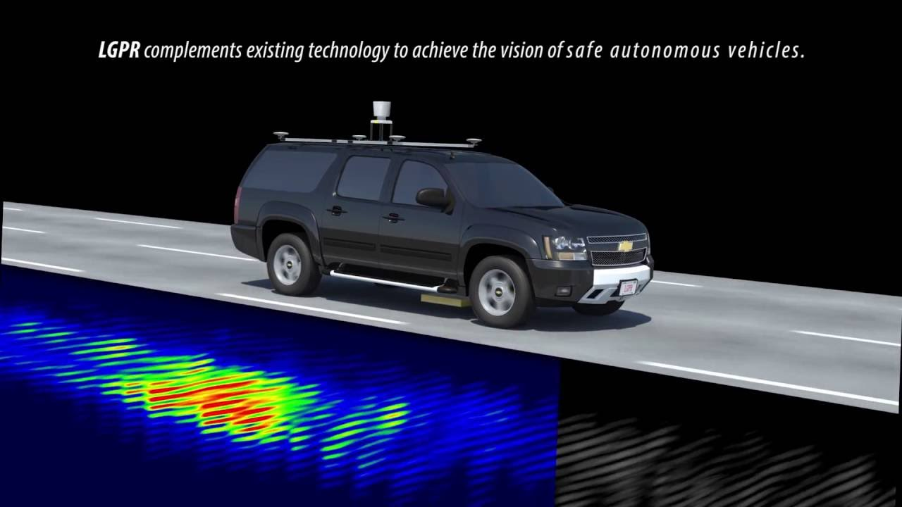 Simulation demonstrating how LGPR allows self-driving cars to map the road's subsurface