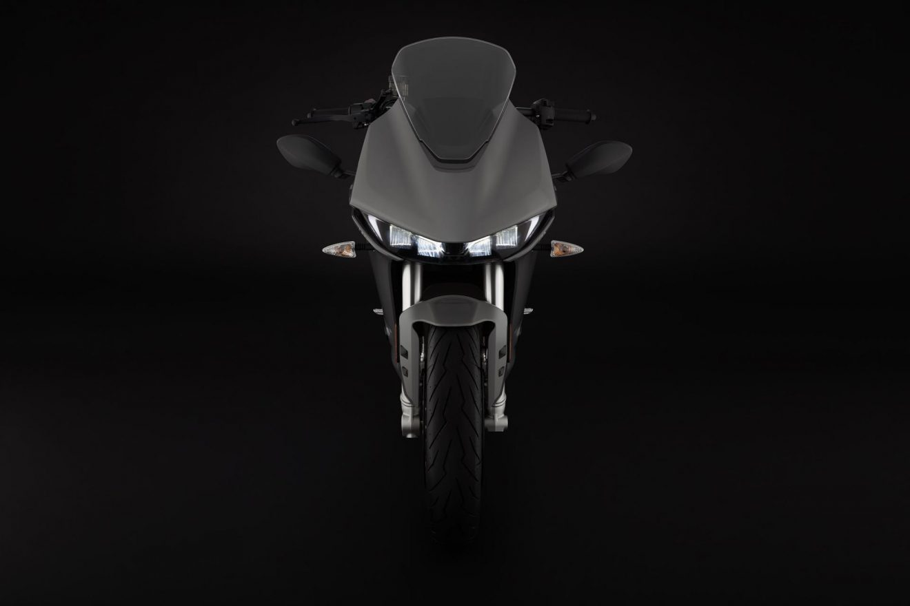 Electric motorcycle Zero SR/S front